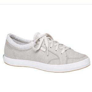 NEW Keds Center Chambray Lace Up Sneakers Gray